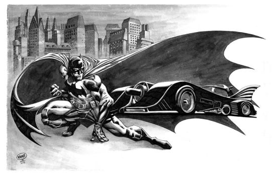 Bat and Mobile Ink Wash by pipin