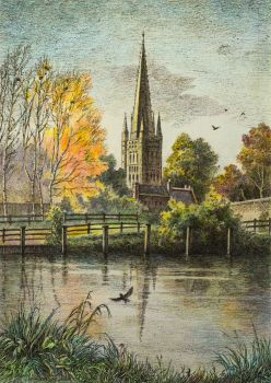 Norwich Cathedral from River Wensun by LotharZhou
