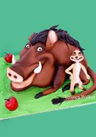 pumbaa and timon cake by Verusca