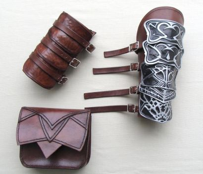 Altair Leather Accessories Pt1 by b3designsllc