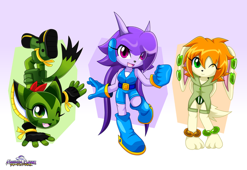 Freedom Planet Heroines by Arung98