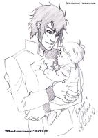 sketch Cain and Abel by Meissner-kun