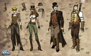 Steampunk Sketches A by DNA-1