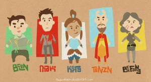 LoK :: chibi chibi by rockinrobin