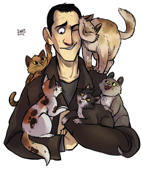 Nine and catsss by SIIINS