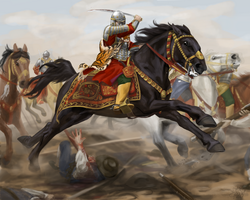 Charging Hussar by ThunderboltFire