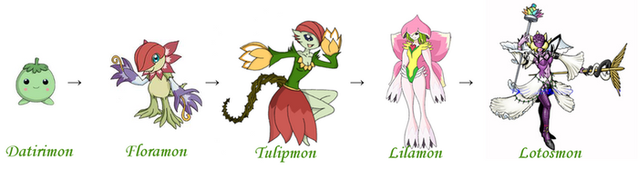 Lunamon Evolution Chart Digimon S5 favo...