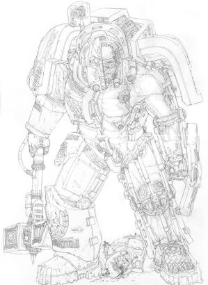 Sketch- 40K Terminator Cross-section by PenUser