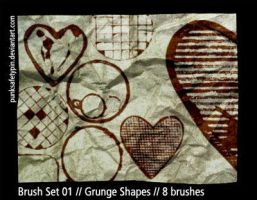 Brush Set 01 - Grunge Shapes by punksafetypin
