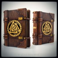 The Viking wooden/leather journal... by alexlibris999