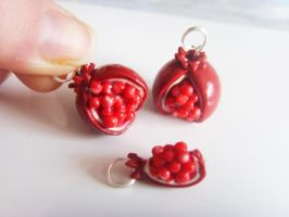Pomegranate Charms by tyney123