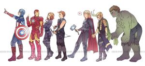 Avengers Assemble! by miho-nyc