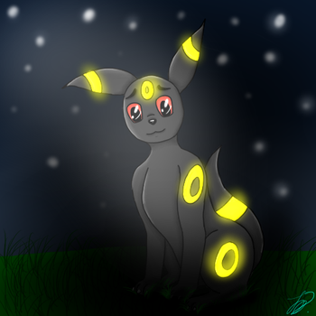 Umbreon (First Try) by Wolffinatic