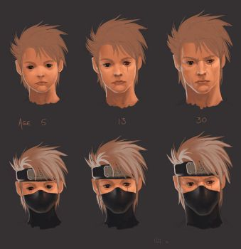 Ages of Kakashi by Tokoldi