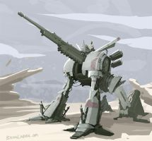 Military Mech Cannon by BrianLindahl