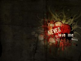You will never love me by pincel3d