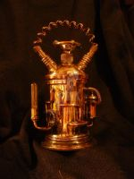 Little brass jar with cap by mpv666
