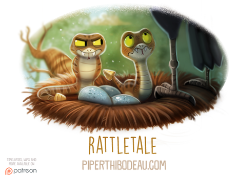 Daily Paint 1597. Rattletale by Cryptid-Creations