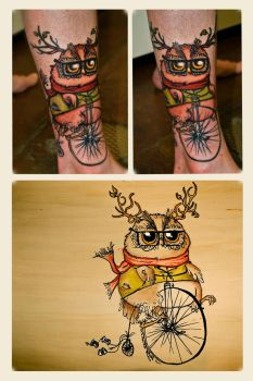 Hipster owl by 00Alice00