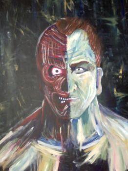 Second progress...Two Face by paynesgreyvampire