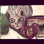 cat with wool by nomatter26