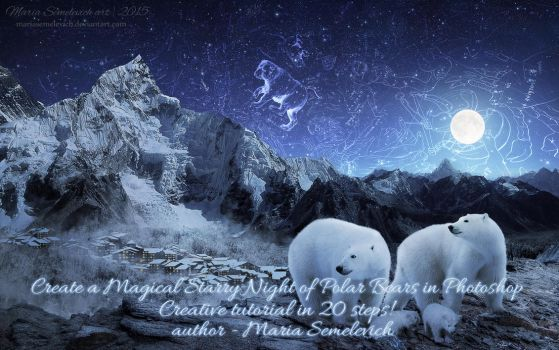 Create a Magical Starry Night in Photoshop by MariaSemelevich