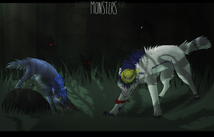 [collab] Monsters. by run-jump-fly