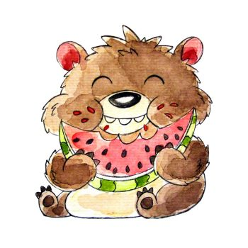 Monster of the Day #1268 Watermelon Bear Monster! by jurries21