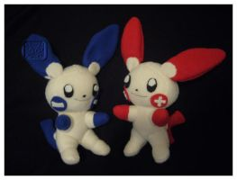 Plusle and Minun Plushies