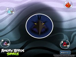 Angry Birds Space Wallpaper B by MakioG