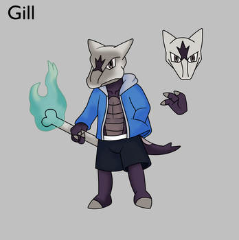 Gill Sans the Alolan Marowak by Draw-ze-Drawing