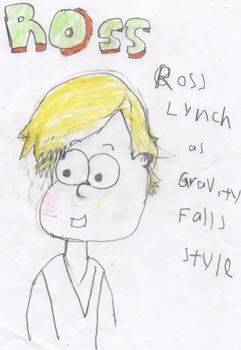 Ross Lynch as  Gravity Falls  style by Ply20