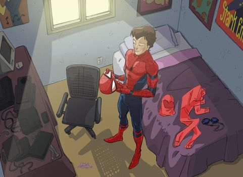 Peter Parker Underoos by Lemwell