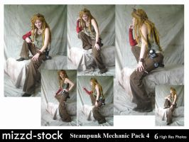 Steampunk Mechanic Pack 4 by mizzd-stock
