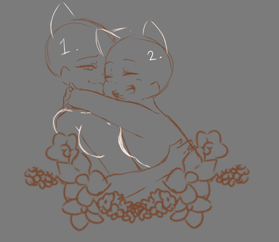 Ych flowers couple Open! by WrgAdopts