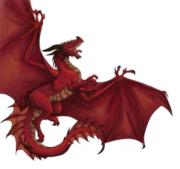 Red dragon by Horseyperson