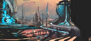W.D. My Work - Cityscape by SolarSouth