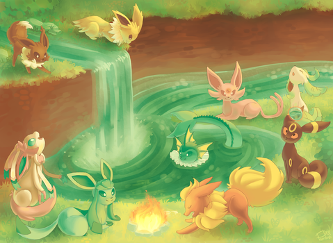 Eevee's Playground by Pombei