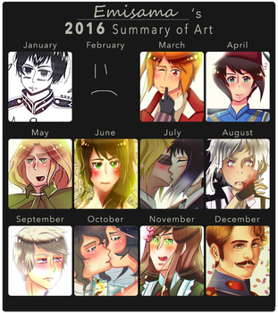 Emisama's 2016 Summary of Art by Emisama