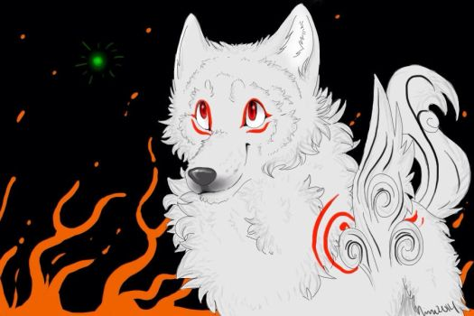 Amaterasu and Issun by Akitasune
