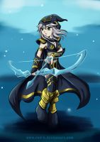 LOL Ashe the frost archer by Rud-K