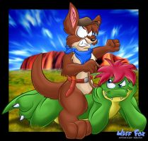 Riding Roo by Jaff-fox