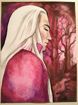 Thranduil Watercolor by TheSilverWyrm