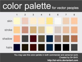 Color Palette 2 Vector People by Sir-SiriX