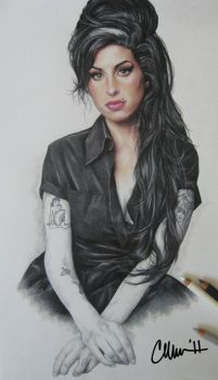 Amy Winehouse Drawing by Live4ArtInLA