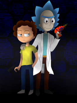 Rick and morty by ILoveMusicSong