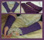Dragon Scale - fingerless mittens by KnitLizzy