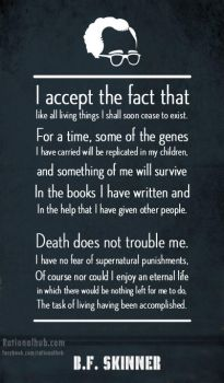 B.F. Skinner on afterlife.. by rationalhub