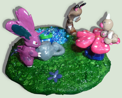 HandMade Figures of pokemons in the nature