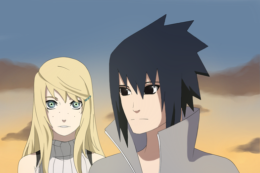 . Sasuke and Miuu . by AkaiBlood